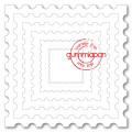 Gummipan Dies - Postage Stamp Square Dies