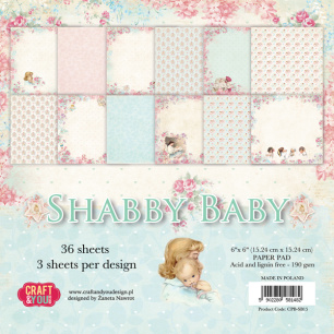 Craft & You - Pappersblock - Shabby Baby - Craft & You - Pappersblock - Shabby Baby