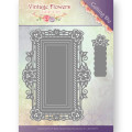Jeaninés Art Dies - Vintage Flowers - Floral Rectangle