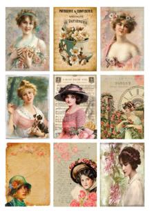 Reprint - Klippark - Miss Margit - Cutouts Women & Flower - Reprint - Klippark - Miss Margit - Cutouts Women & Flower