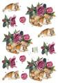 Dan design 3D Klippark - Kattunge i blomkorg