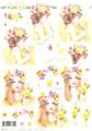 Le Suh 3D Utstansat - Flicka med blomsterkrans