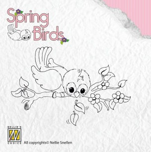Nellie Snellen - Clearstamps - Spring Birds - Ready to fly away - Nellie Snellen - Clearstamps - Spring Birds - Ready to fly away
