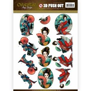 Amy Design 3D Utstansat - Oriental - Geisha - Amy Design 3D Utstansat - Oriental - Geisha