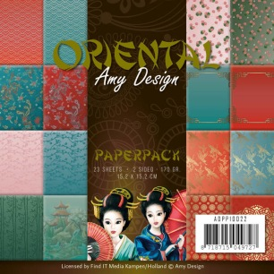 Amy Design Pappersblock - Oriental - Amy Design Pappersblock - Oriental