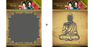 Amy Design Dies - Oriental - Frame + free dies Meditating Bhuddist - Amy Design Dies - Oriental - Frame + free dies Meditating Bhuddist