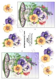 Dan-Quick  3D Klippark - Blommor i skål - Dan-Quick  3D Klippark - Blommor i skål