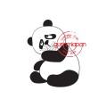 Gummiapan - Stämpel - Ätande Panda