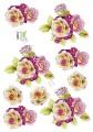 Dan design 3D Klippark - Blommor i lila