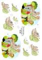 Dan-Quick 3D Klippark - Äldre par på bänk