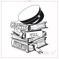 Rox Stamps stämpel - Grattis till studenten med böcker