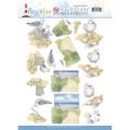 Jeaninés Art 3D Utstansat - Fiskmåsar