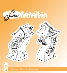 by Lene - Clearstamp - Crooked House 1 - by Lene - Clearstamp - Crooked House 1