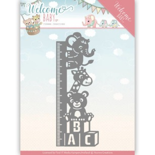 Yvonne Creations Dies - Welcome Baby - Growth Chart - Yvonne Creations Dies - Welcome Baby - Growth Chart