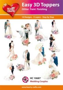 Easy 3D Utstansat - Wedding Couples - Easy 3D Utstansat - Wedding Couples