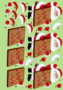 Dan design - 3D Klippark - Jultomte m skylt - 3D Klippark - Jultomte m skylt