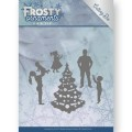 Jeanine´s Art Dies - Frosty Ornaments - Happy Family