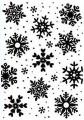Nellie Snellen Embossingfolder - Background - Snowflakes