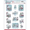 Yvonne Creation 3D Utstansat - Christmas Dreams - Christmas Bears