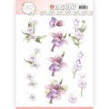 Precious Marieke 3D Utstansat - Flower in Pastels - Lilac Mist
