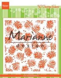 Marianne Design Embossingfolder - Pine - Marianne Design Embossingfolder - Pine
