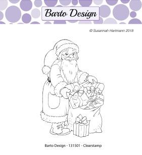 Barto Design - Clearstamp - Tomtefar m julklappssäck - Barto Design - Clearstamp - Tomtefar m julklappssäck