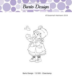 Barto Design - Clearstamp - Tomteflicka - Barto Design - Clearstamp - Tomteflicka
