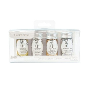 Nuvo Pure Sheen Confetti - Golden Years 4-pack - Nuvo Pure Sheen Confetti - Golden Years 4-pack
