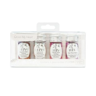 Nuvo Pure Sheen Confetti - Cross My Heart 4-pack - Nuvo Pure Sheen Confetti - Cross My Heart 4-pack