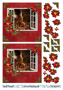 Barto Design - 3D Klippark - Fönster m kyrka i bakgrunden - Barto Design - 3D Klippark - Fönster m kyrka i bakgrunden