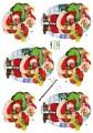 3D Klippark - Tomten m julklappssäck