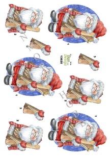 Dan design - 3D Klippark - Tomte - Dan design - 3D Klippark - Tomte
