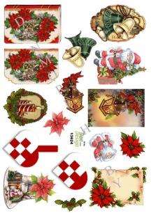 Dan design - 3D Klippark - Små motiv till julkort - Dan design - 3D Klippark - Små motiv till julkort