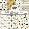 Pappersblock - Felicita design - Golden Christmas time