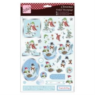 Anita´s 3D Utstansat - Snowman and Family - Anita´s 3D Utstansat - Snowman and Family