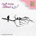 Clearstamp från Nellie Snellen - Silhouette - Fåglar på kvist