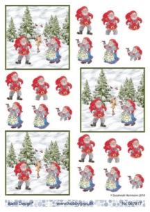 Barto Design - 3D Klippark - Tomtemor & Tomtefar i skogen - Barto Design - 3D Klippark - Tomtemor & Tomtefar i skogen