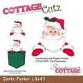 Cottage Cutz Dies - Santa Peeker