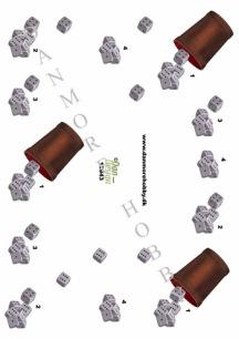 Dan-design 3D Klippark - Tärningsspel - Dan-design 3D Klippark - Tärningsspel