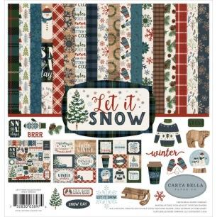 Papper - Carta Bella Collection Kit - Let it Snow - Papper - Carta Bella Collection Kit - Let it Snow