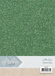 Card Deco Essentials Glitter Papper (20 färger) - Forrest Green