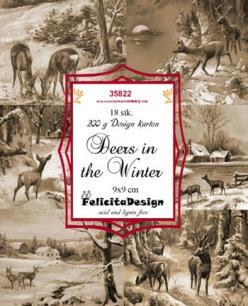 Felicita Design Toppers - Deers in Winter - Felicita Design Toppers - Deers in Winter
