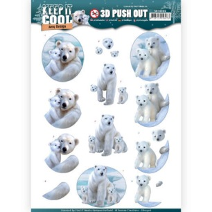 Amy Design 3D Utstansat - Keep it Cool - Cool Polar Bears - Amy Design 3D Utstansat - Keep it Cool - Cool Polar Bears