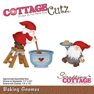 Cottage Cutz Dies - Baking Gnomes - Cottage Cutz Dies - Baking Gnomes