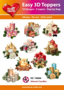 Easy 3D Utstansat - Advent Candels - Easy 3D Utstansat - Advent Candels