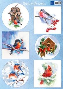 Marianne Design Klippark - Birds in the Winter - Marianne Design Klippark - Birds in the Winter