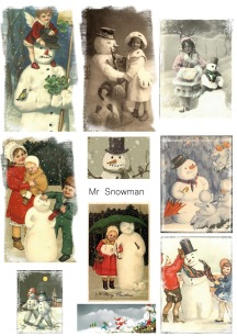 Reprint - Klippark - Mr Snowman