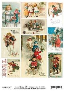 Reprint - Klippark - Julmotiv, barn