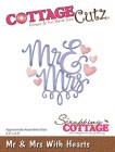 Cottage Cutz Dies - Mr & Mrs With Hearts