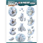 Amy Design 3D Utstansat - Keep it Cool - Cool Polar Bears